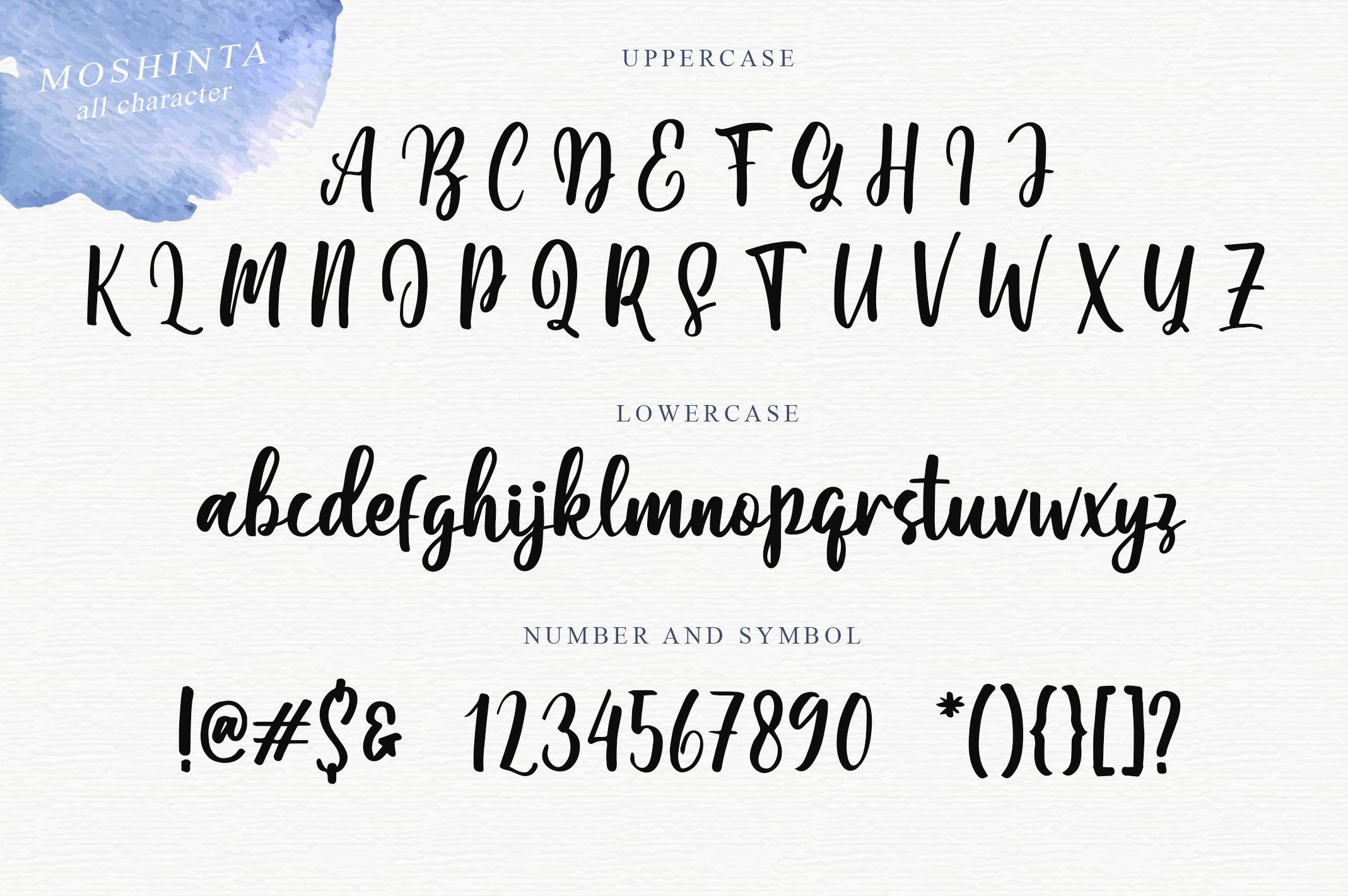 Moshinta Font example image 4