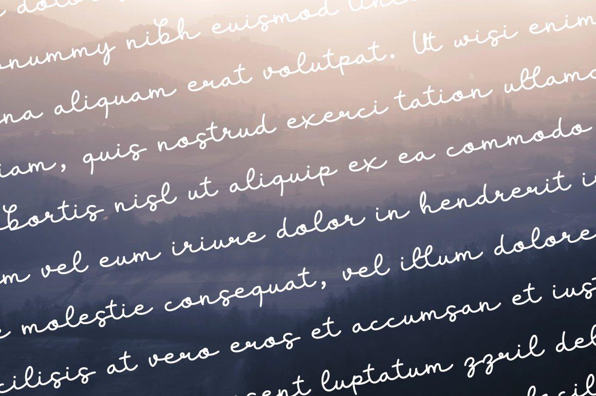 Lifestyle - elegant monoline script example image 2