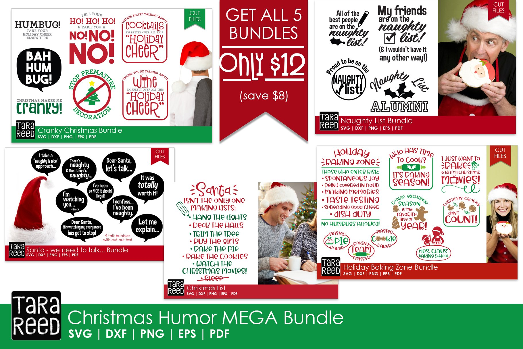 Christmas Humor Mega Bundle Svg And Cut Files For Crafters 151744 Cut Files Design Bundles