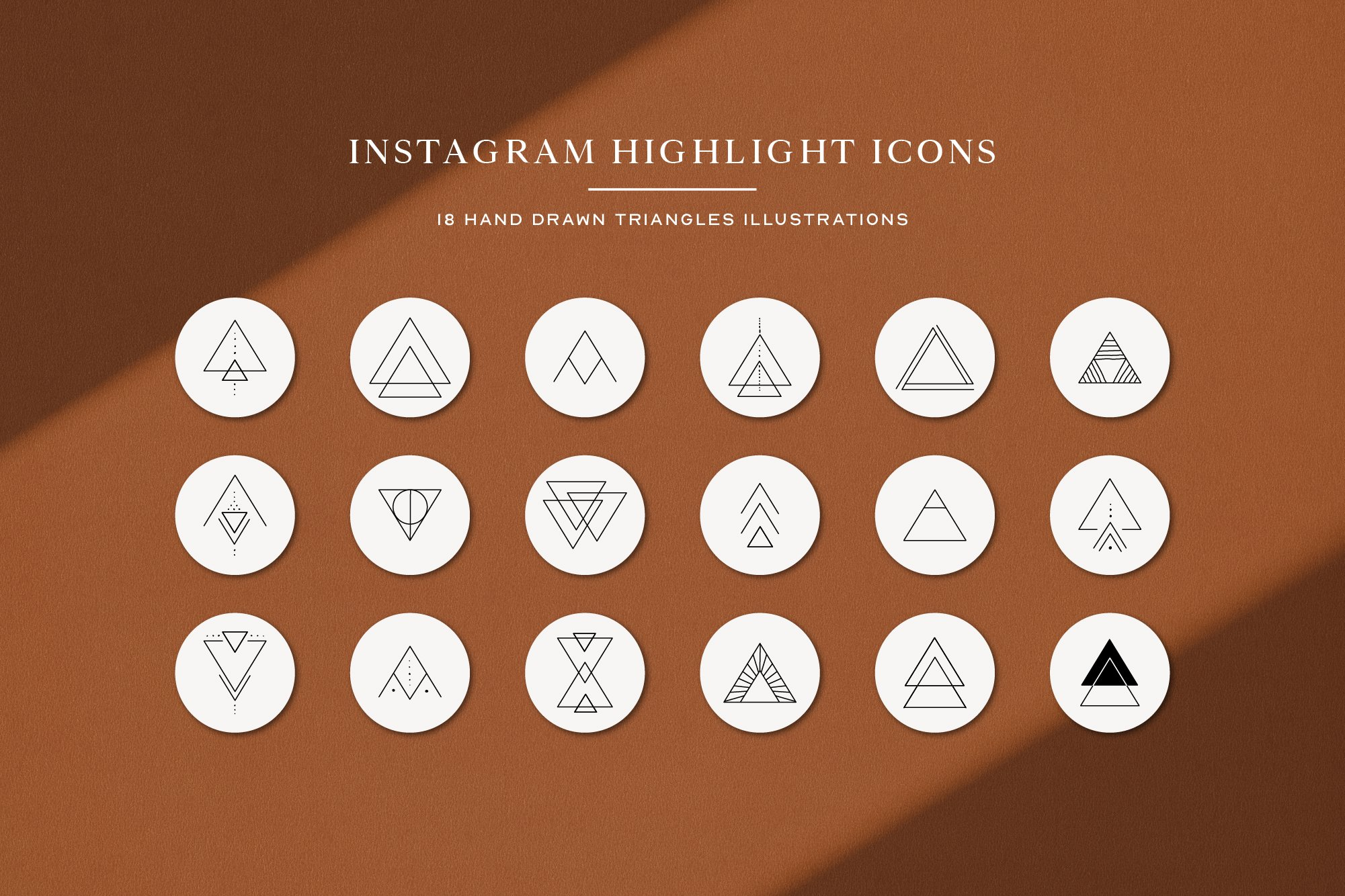 Instagram Triangles Highlights Icons | Instagram Story Cove example image 2