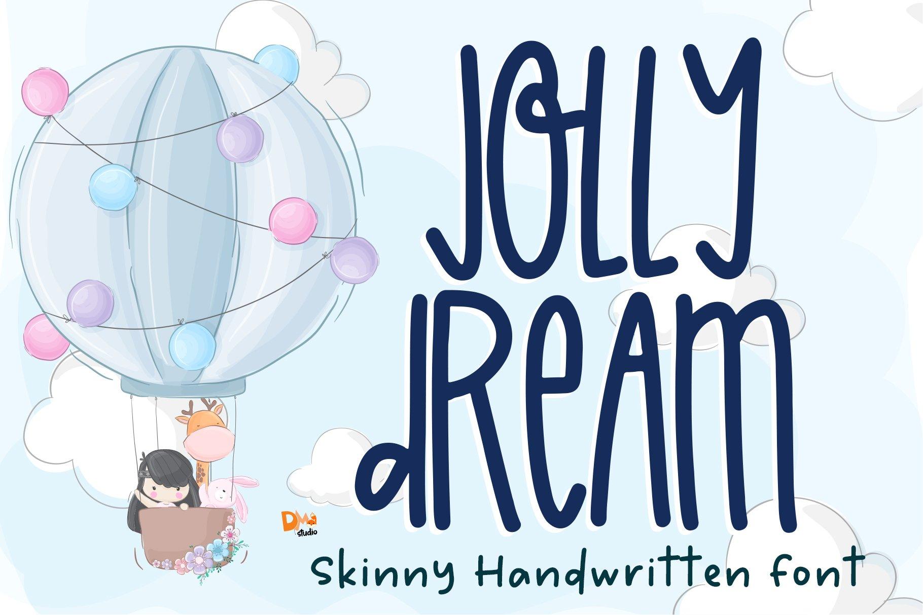 Jolly Dream - Skinny Handwritten Font example image 1