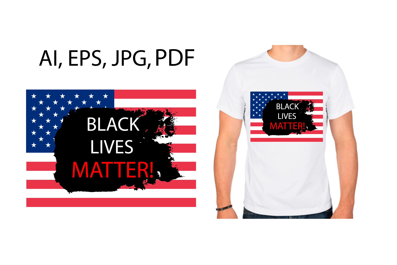 Black Lives Matter banner, print example image 2