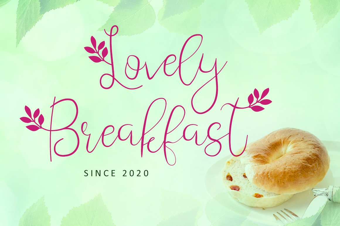 Leafing - Modern Script Font with 3 alternates example image 3
