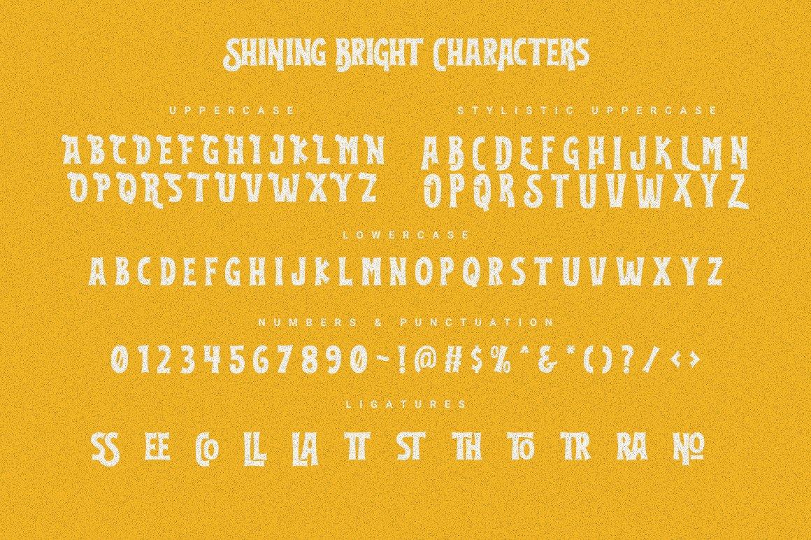 Shining Bright Typeface example image 5