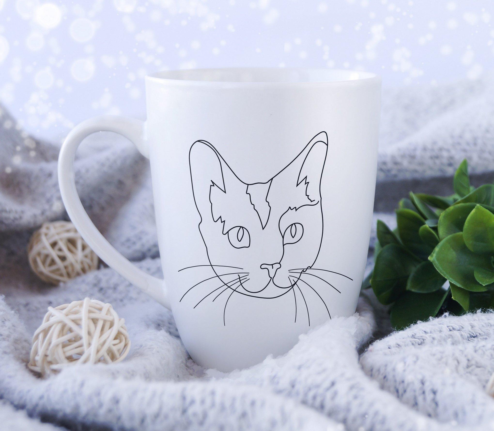 Cat Outline Sublimation Design - Modern Line Art example image 8