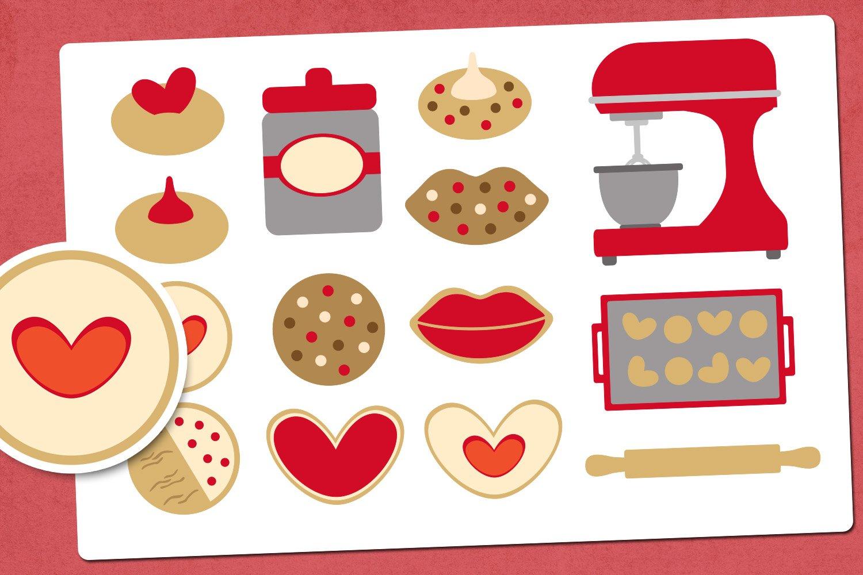 Valentine cookies illustrations clip art example image 1