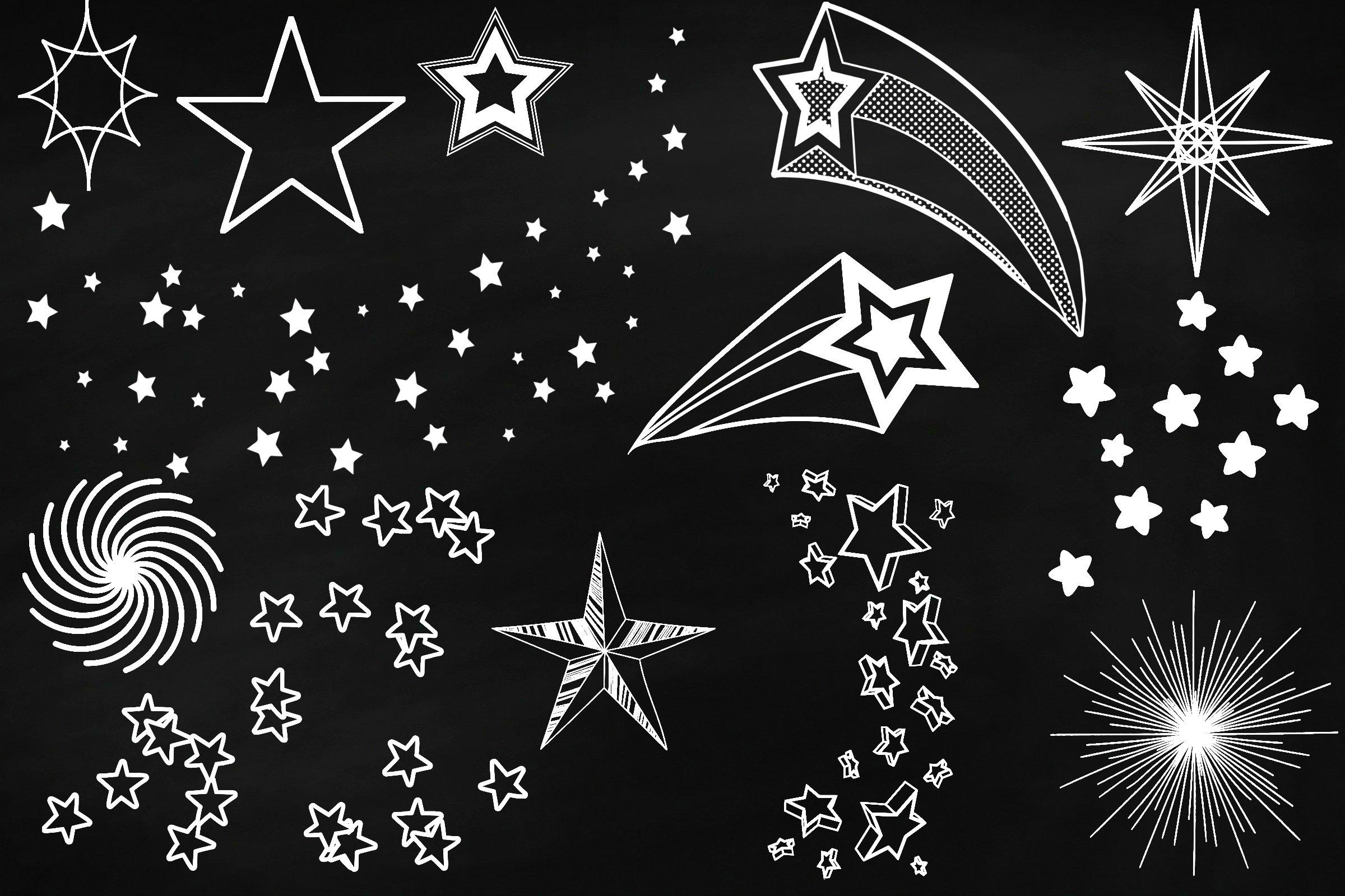 Chalk Sky Doodles And Rain Overlay Clip Art  162296