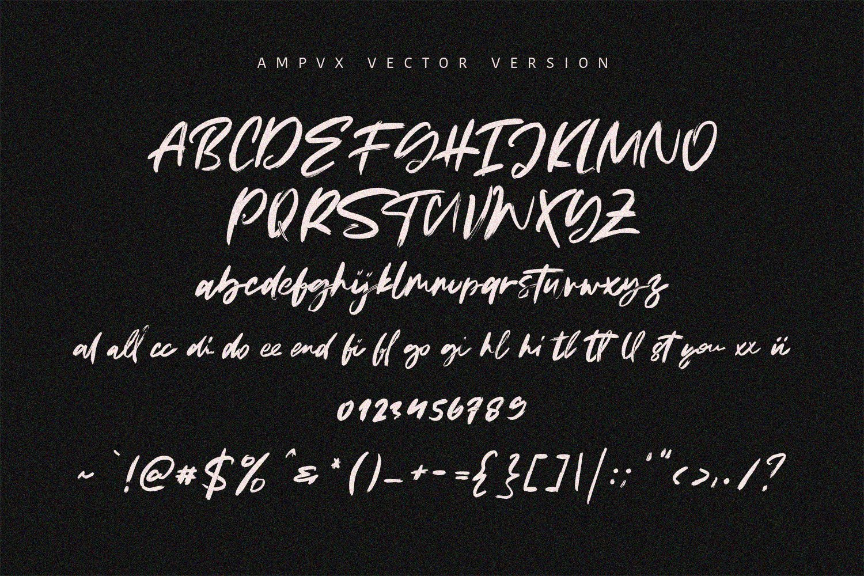 AMPVX SVG Brush Font Free Sans example image 6
