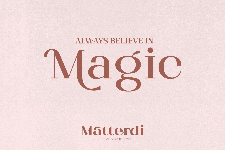 Matterdi | Hi-fashion ligature font example image 13