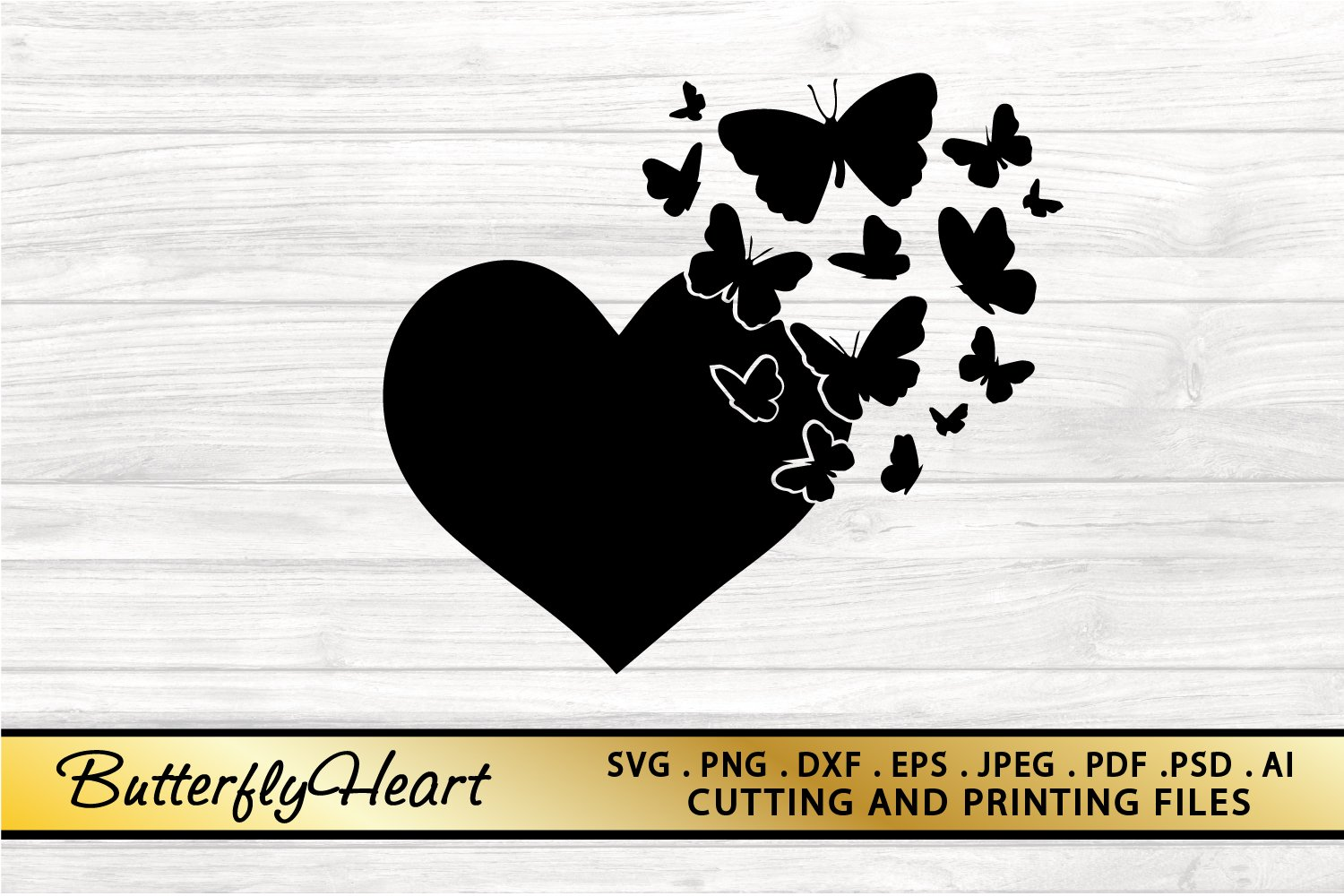 Butterfly Heart Svg Png Eps Dxf Files Butterfly Svg Cut File 748018 Illustrations Design Bundles