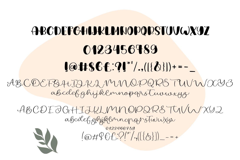 Orange Flower Font Duo example image 5