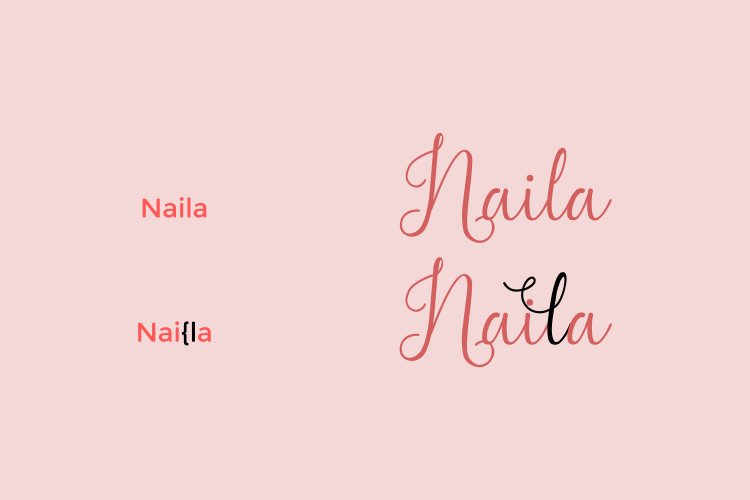Madame Naila- Lovely Modern Calligraphy example image 2