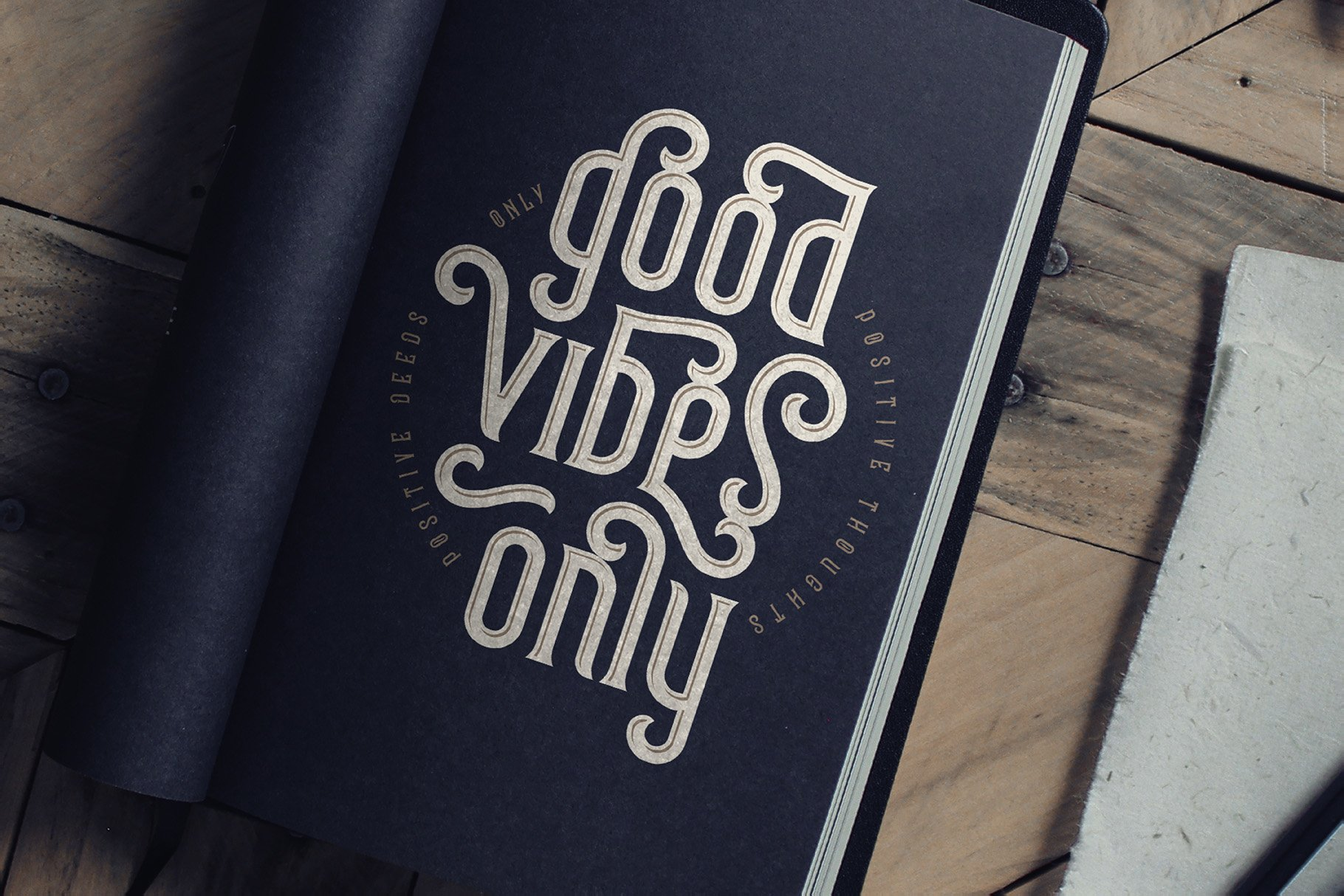 Frizzy vintage font example image 7