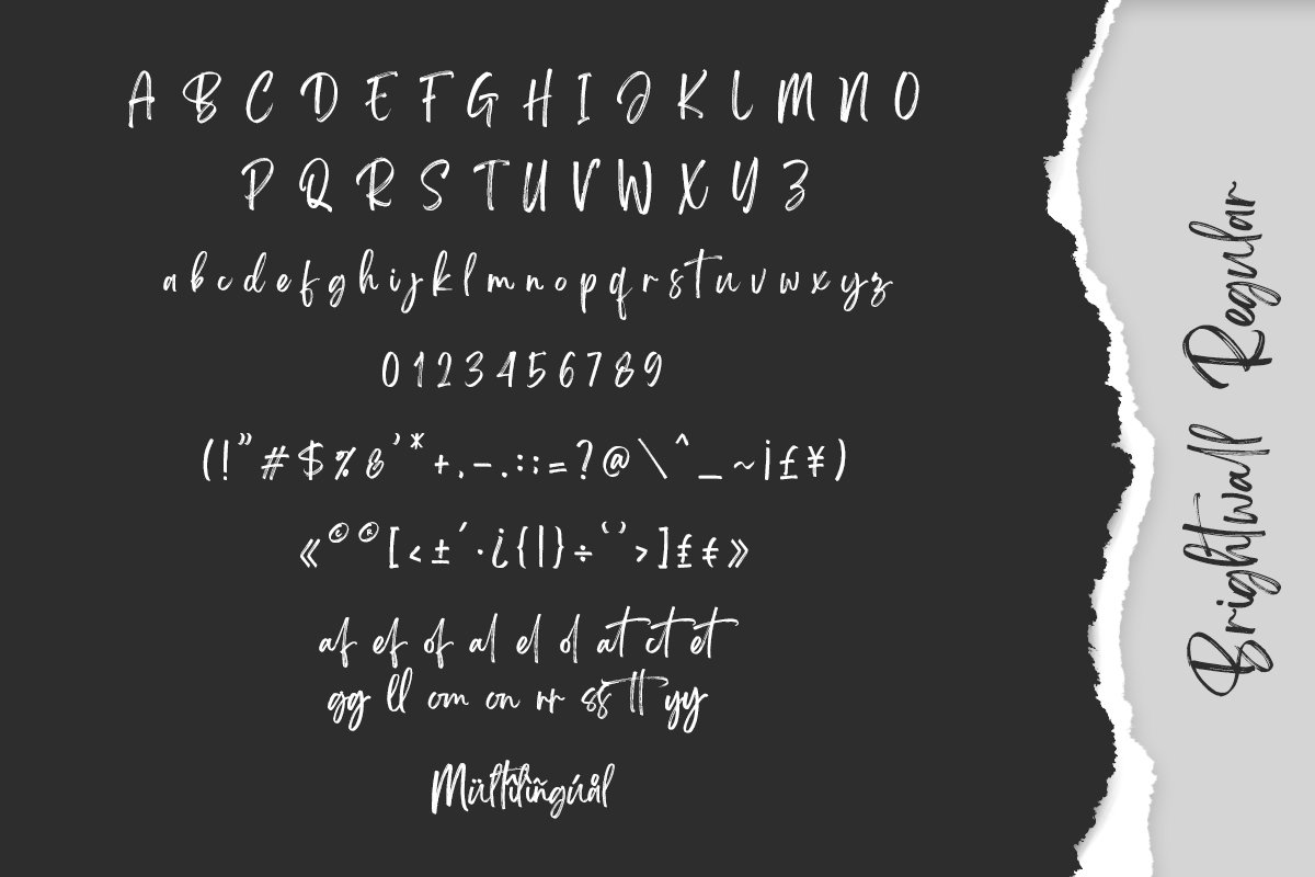 Brightwall Brush Font example image 14