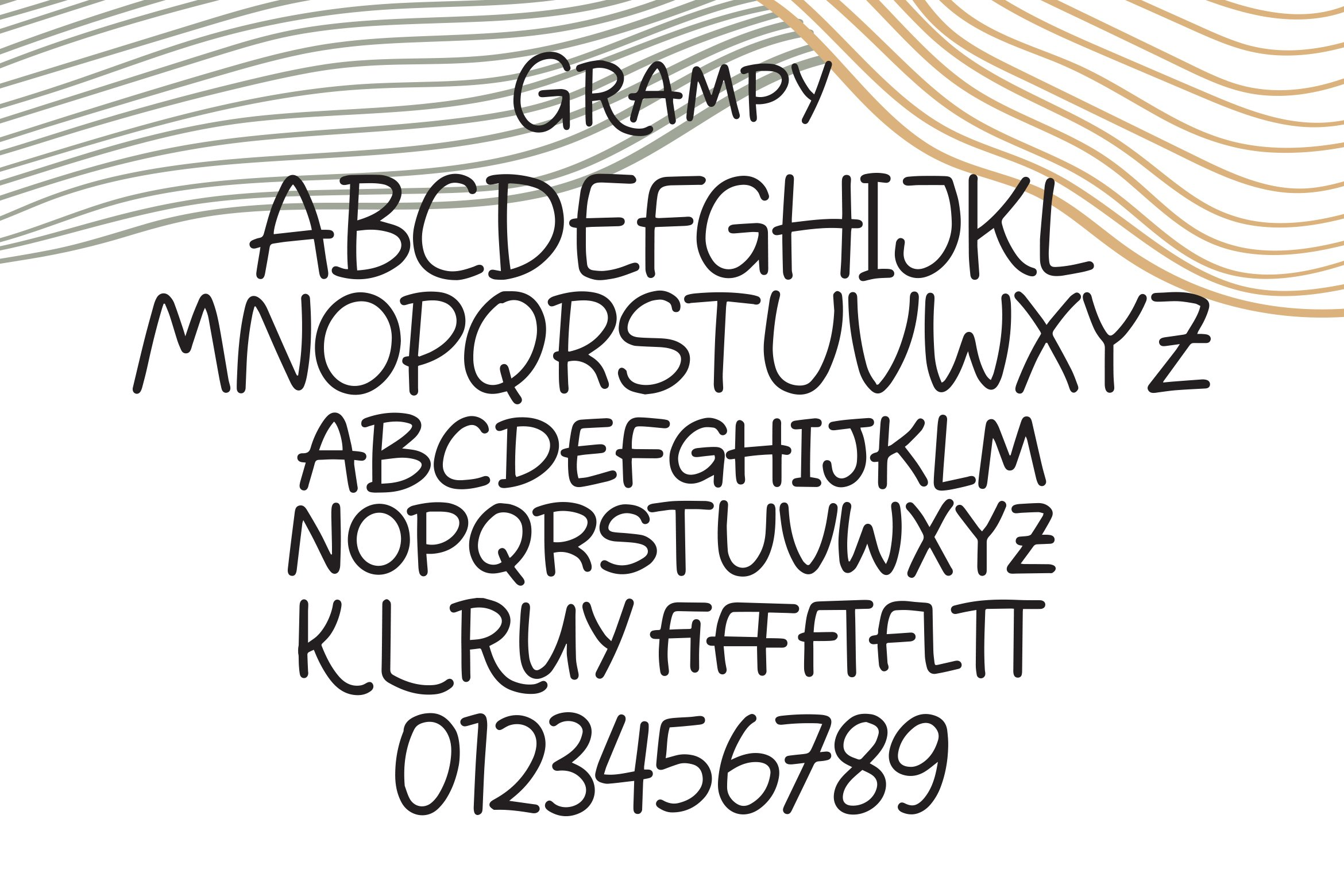 Grampy - Handlettering Font example image 4