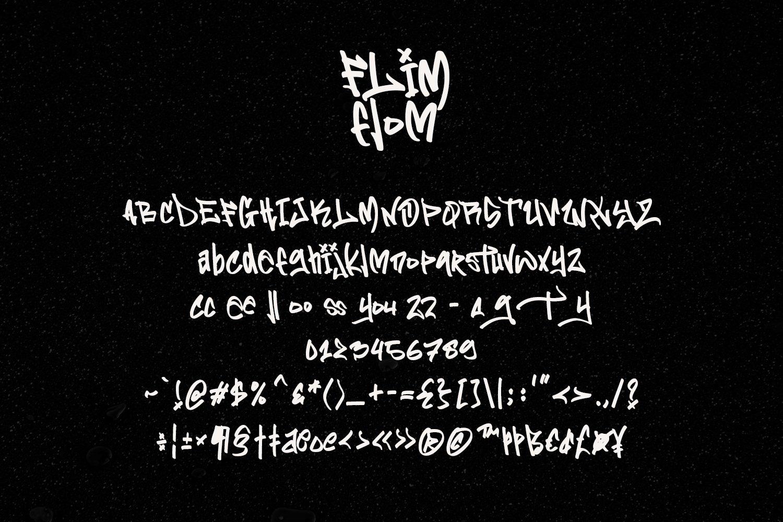 Flim Flom - Graffiti Font example image 6