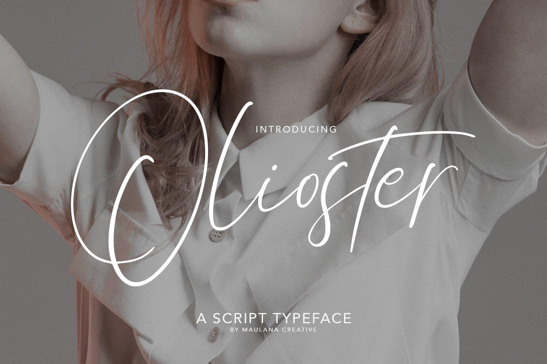 Olioster Elegant Fashion Script Font example image 1