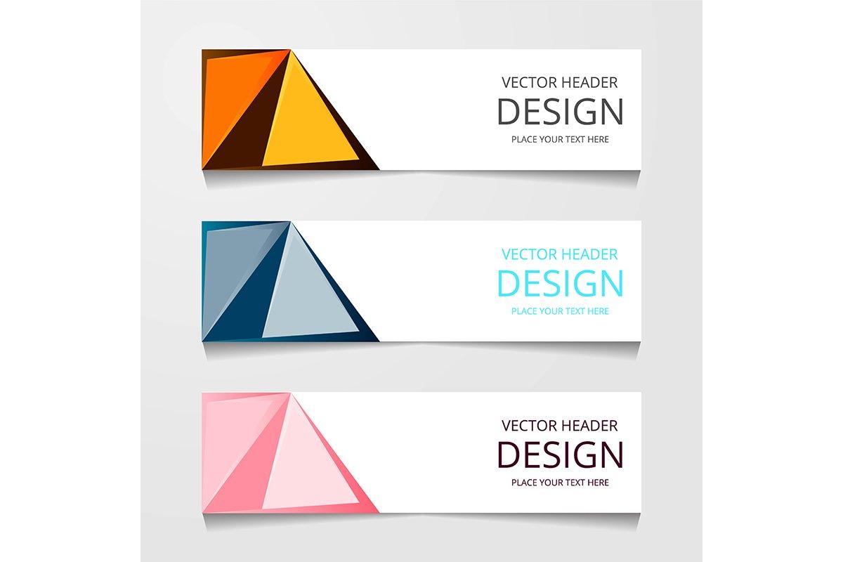 set abstract horizontal web banner example image 1