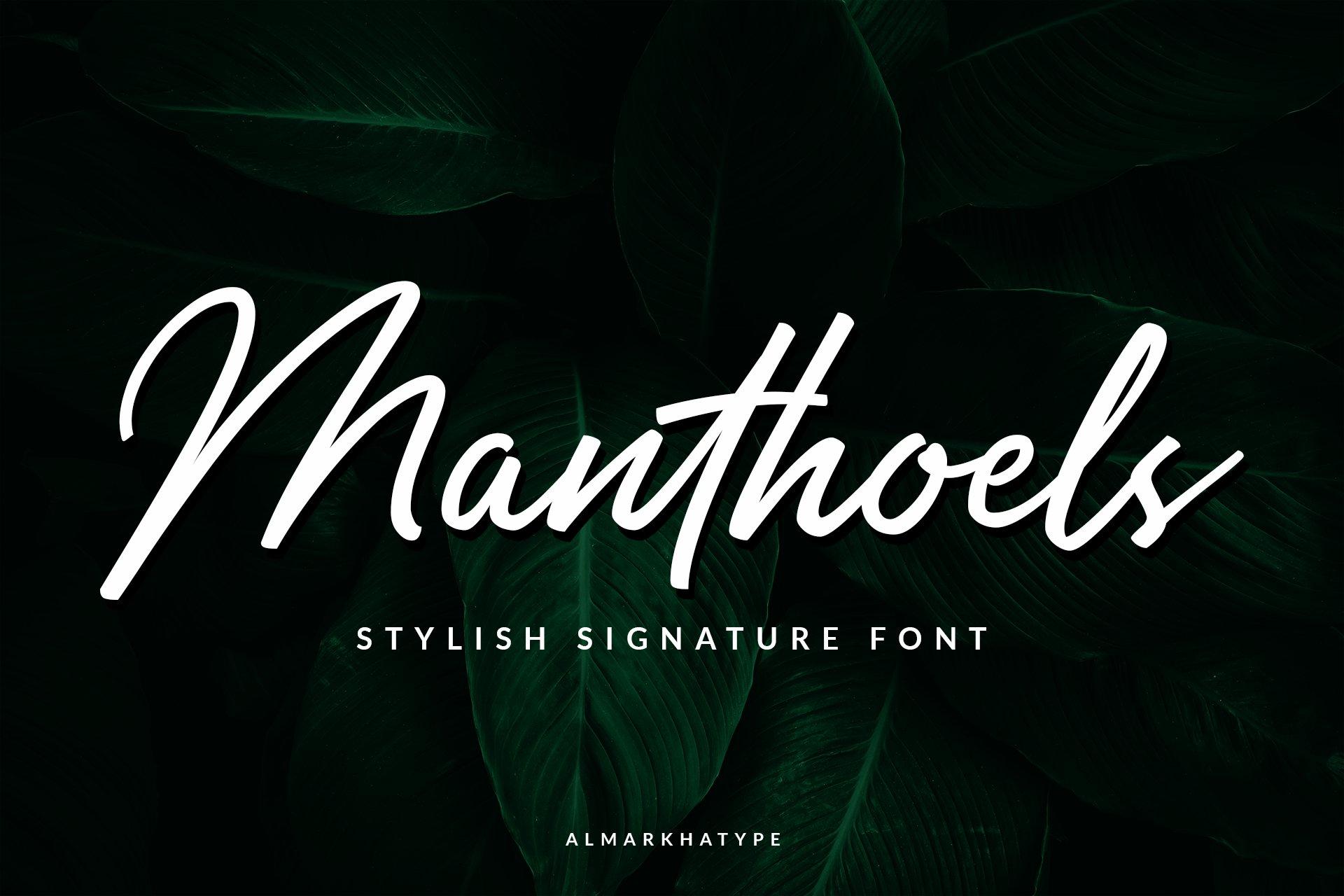 Manthoels - Stylish Signature example image 1