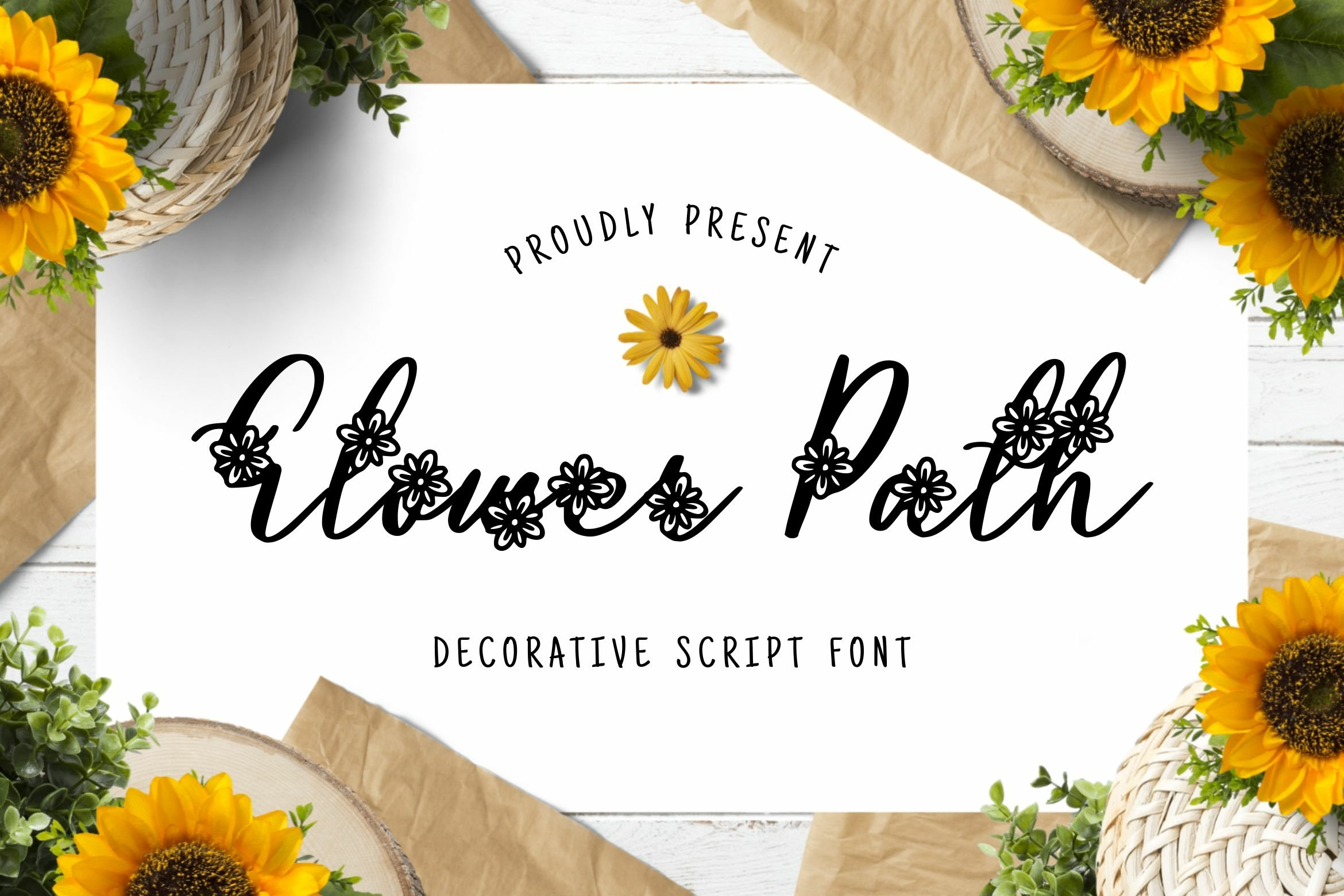 Flower Path Font example image 1