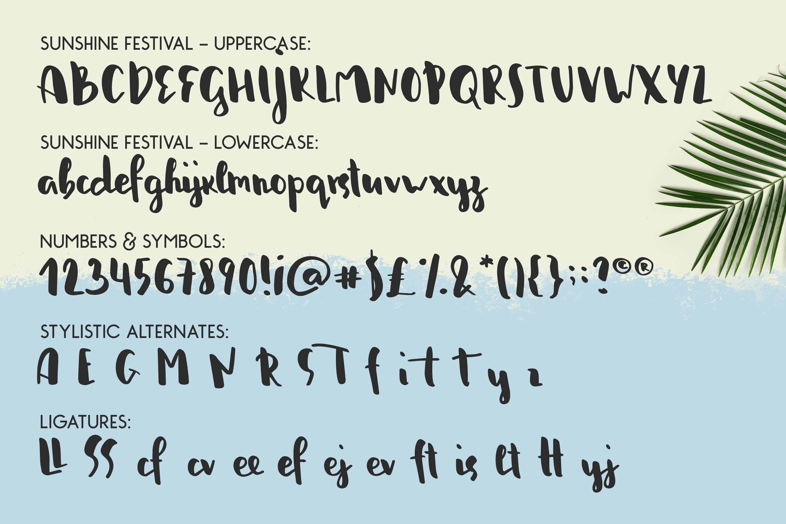 Sunshine Festival - Fun Script Font with Doodles example image 5