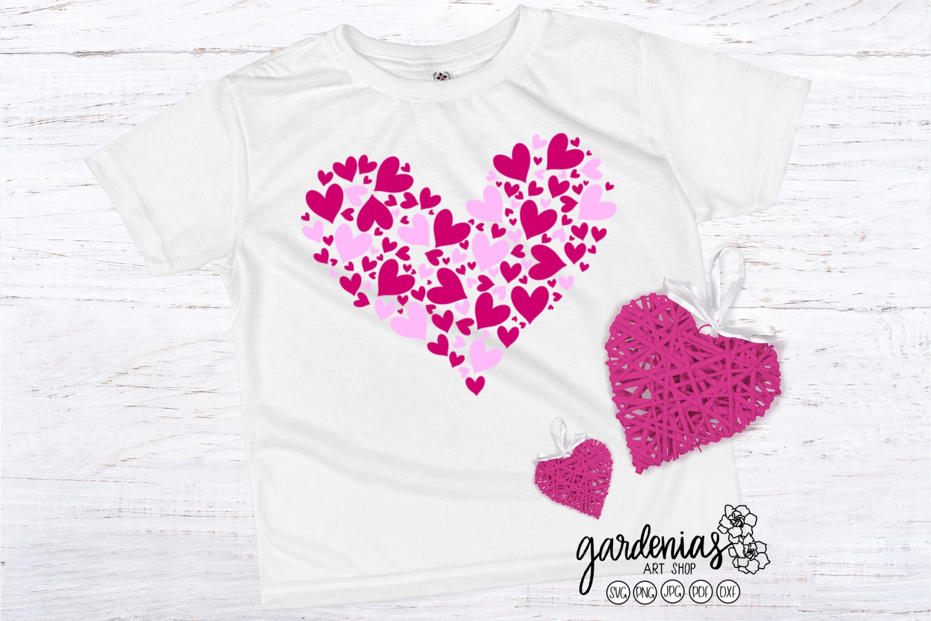 Pink Hearts in Heart SVG | Valentine's Day Sublimation example image 2