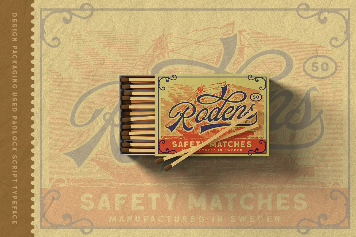 The Padlock - A Vintage Script example image 10