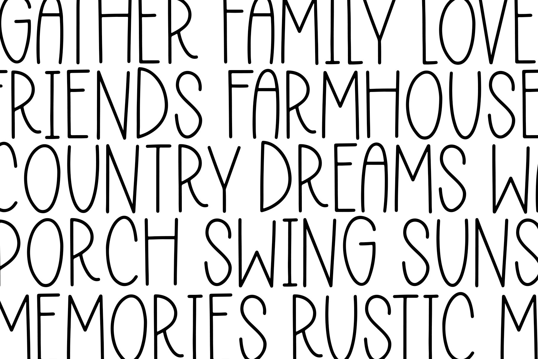 Rustic Country - A Handwritten Font example image 5