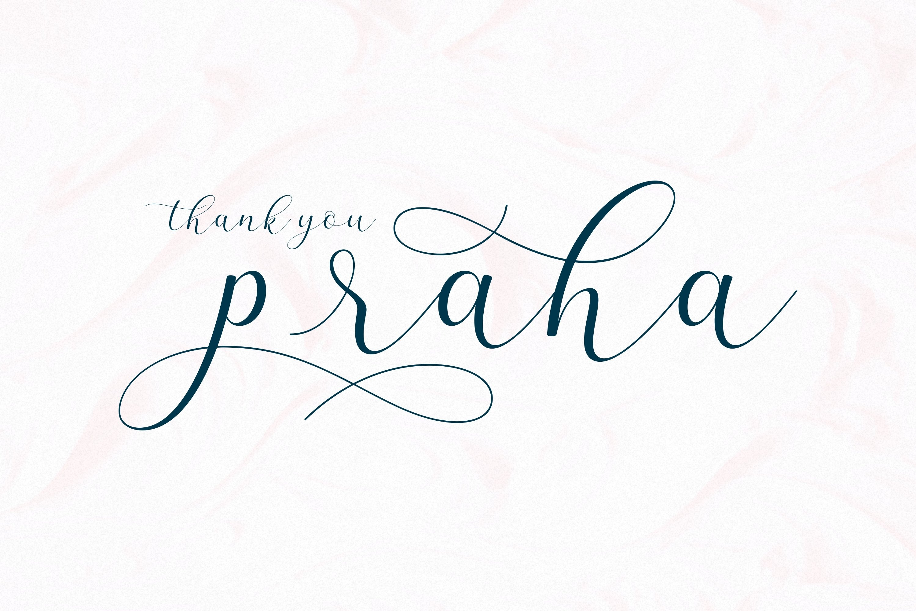 Praha - lovely clean modern calligraphy font example image 10