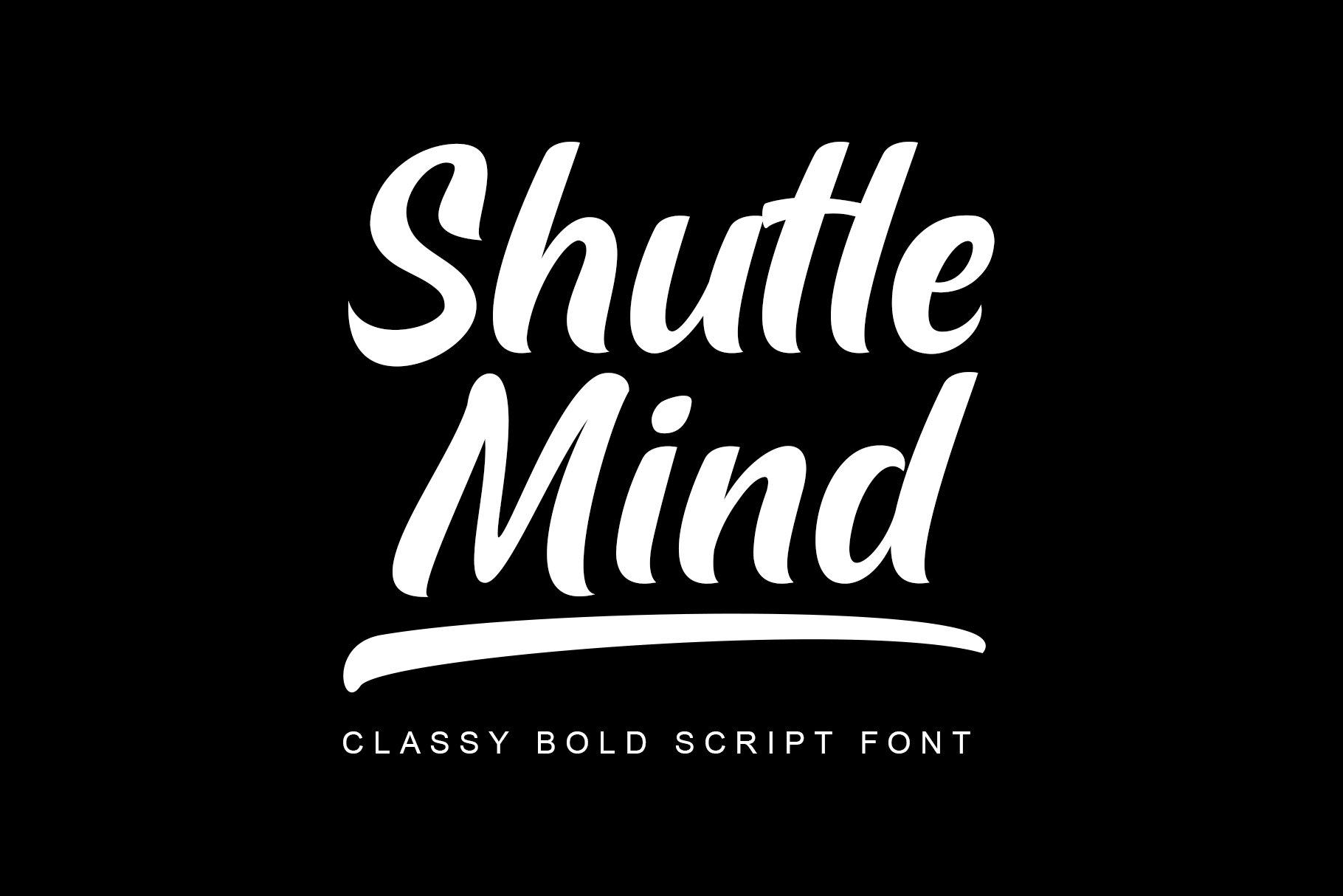 Shutle Mind - Classy Bold Script example image 4