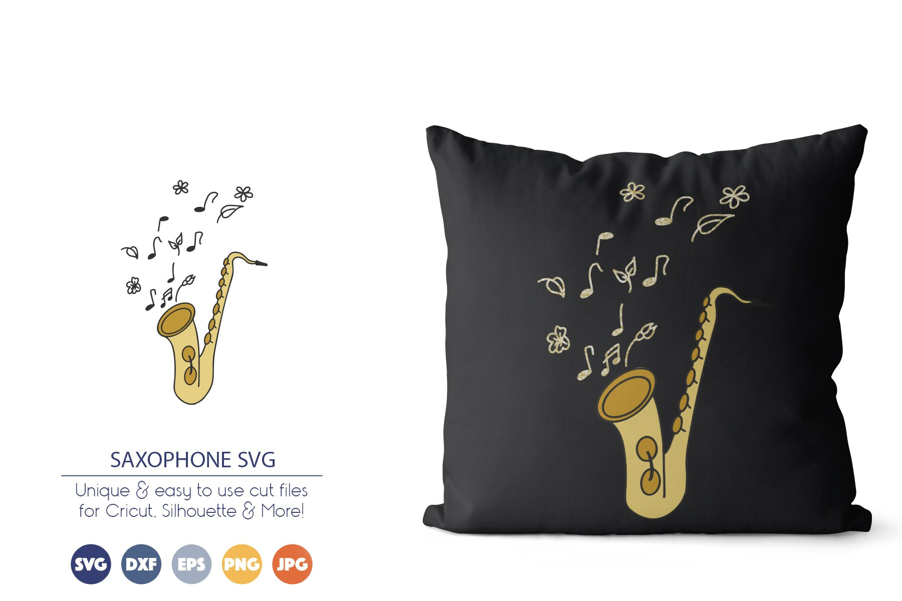 Saxophone SVG | Jazz Music SVG example image 1