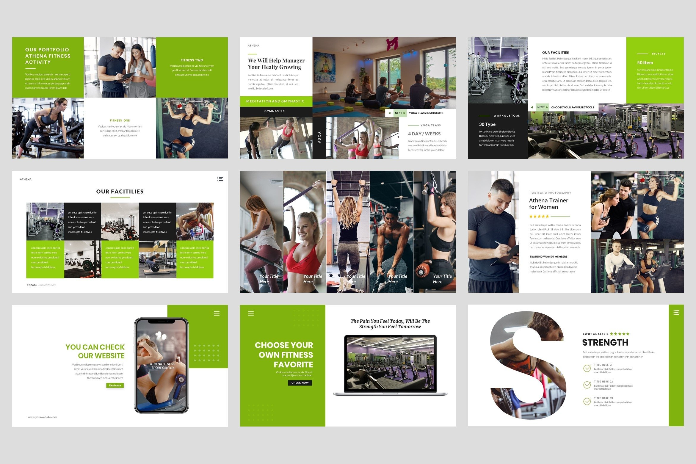 Sport - Fitness Business Workout PowerPoint Template example image 5