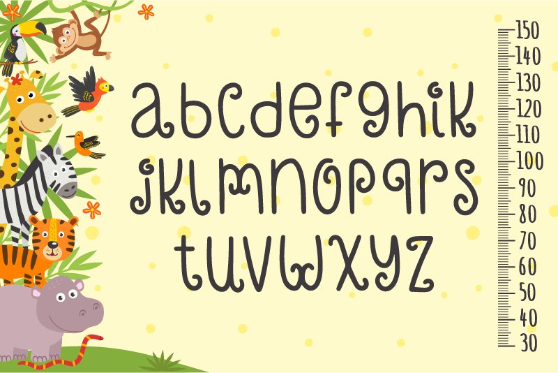 Crazy Monkey Curly Font | LoveSVG example image 2