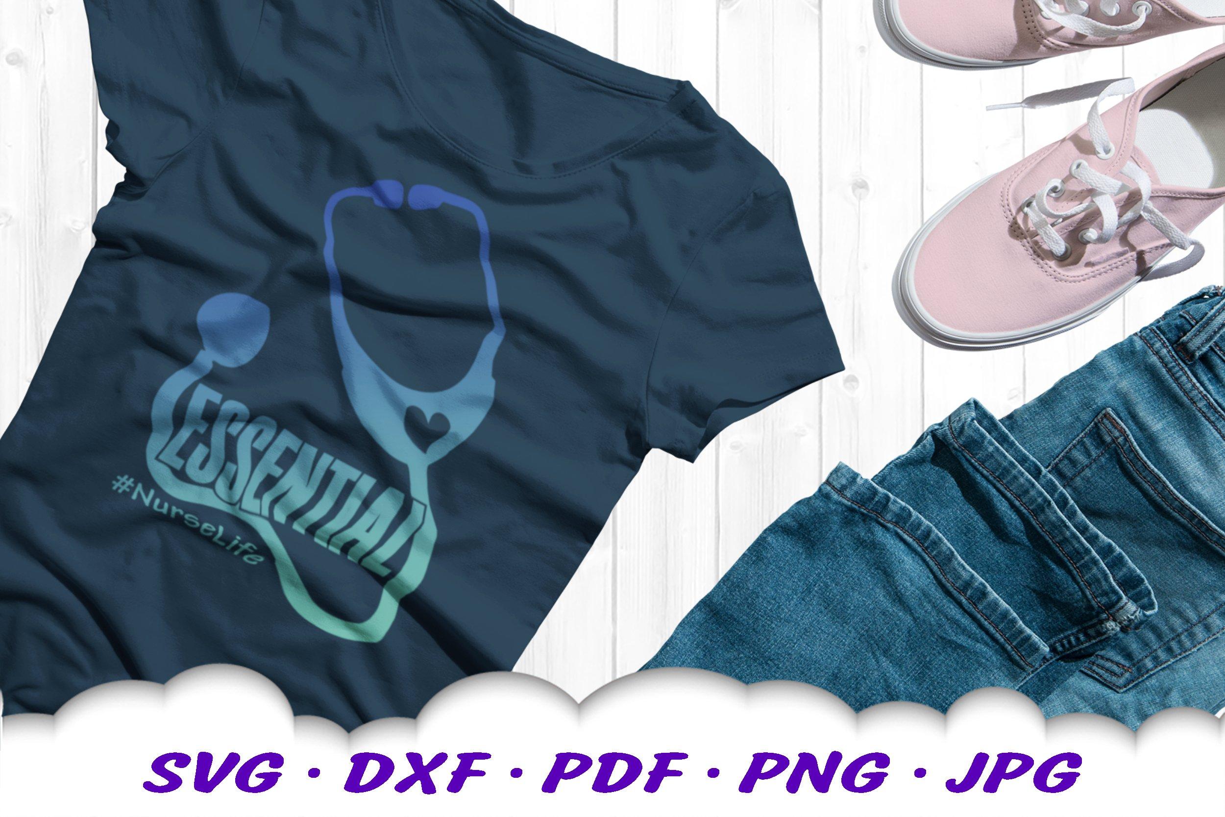 Medical Nurse Stethoscope SVG DXF Cut Files example image 4
