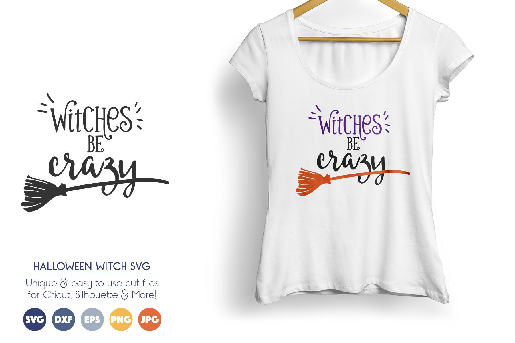 Witches Be Crazy - Halloween SVG Cut Files example image 1