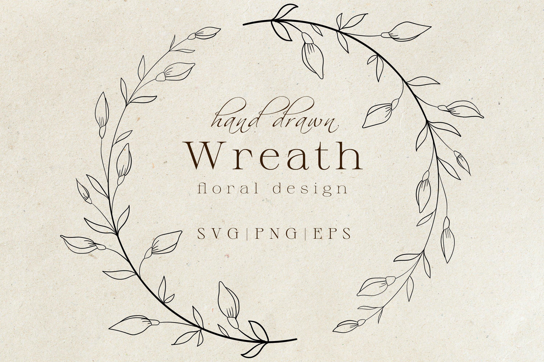 Floral Wreath Svg Png Hand Drawn Doodle Flowers 897265 Cut Files Design Bundles
