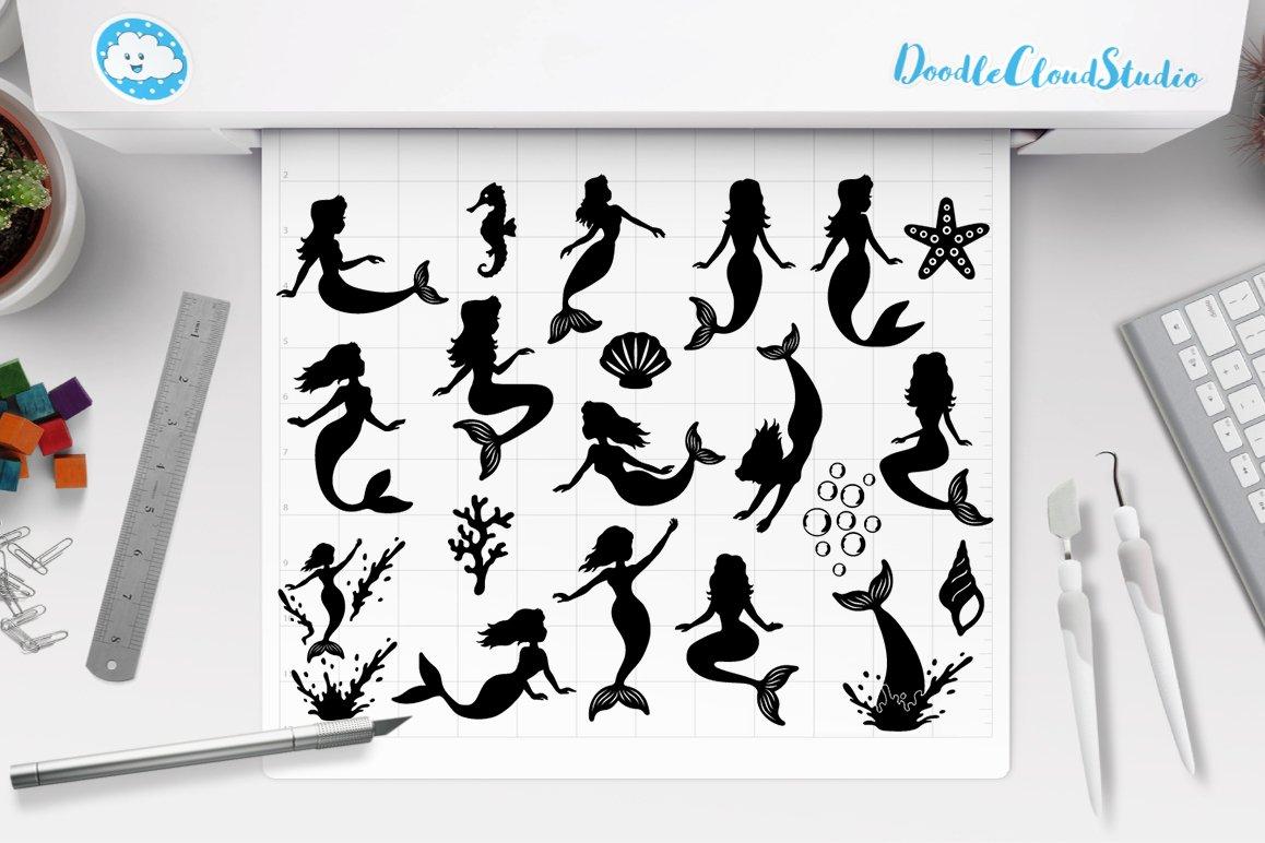 Mermaid SVG, Mermaids Bundle SVG Cut Files, Mermaid Clipart. example image 1