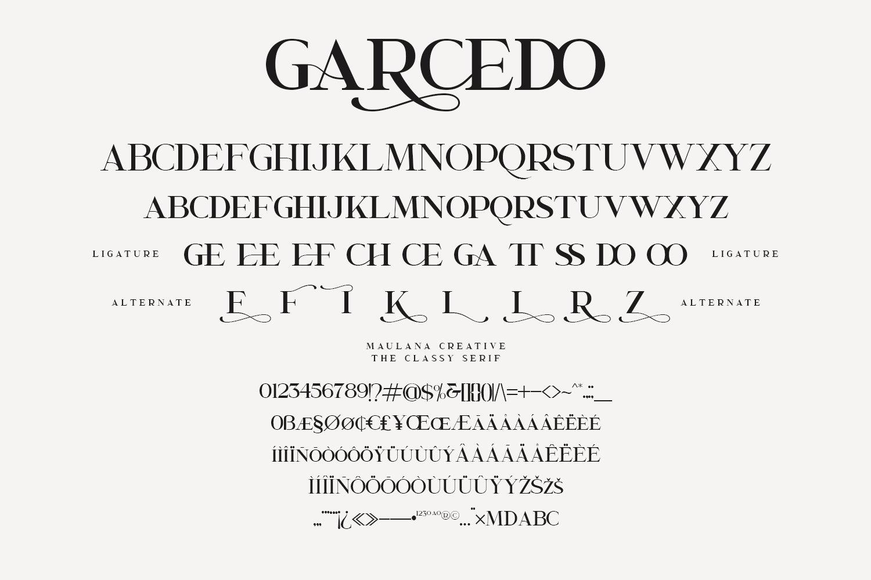 Garcedo Display Serif Font example image 10