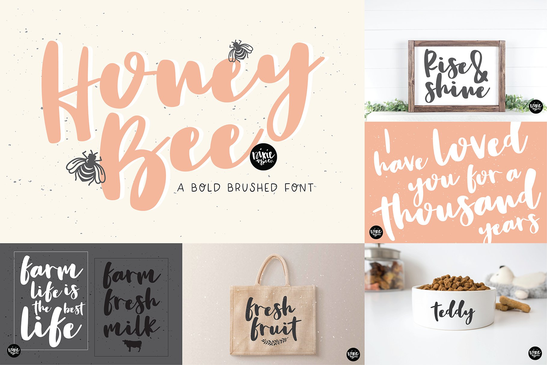Hand Lettered Font Bundle by Dixie Type Co. example image 4