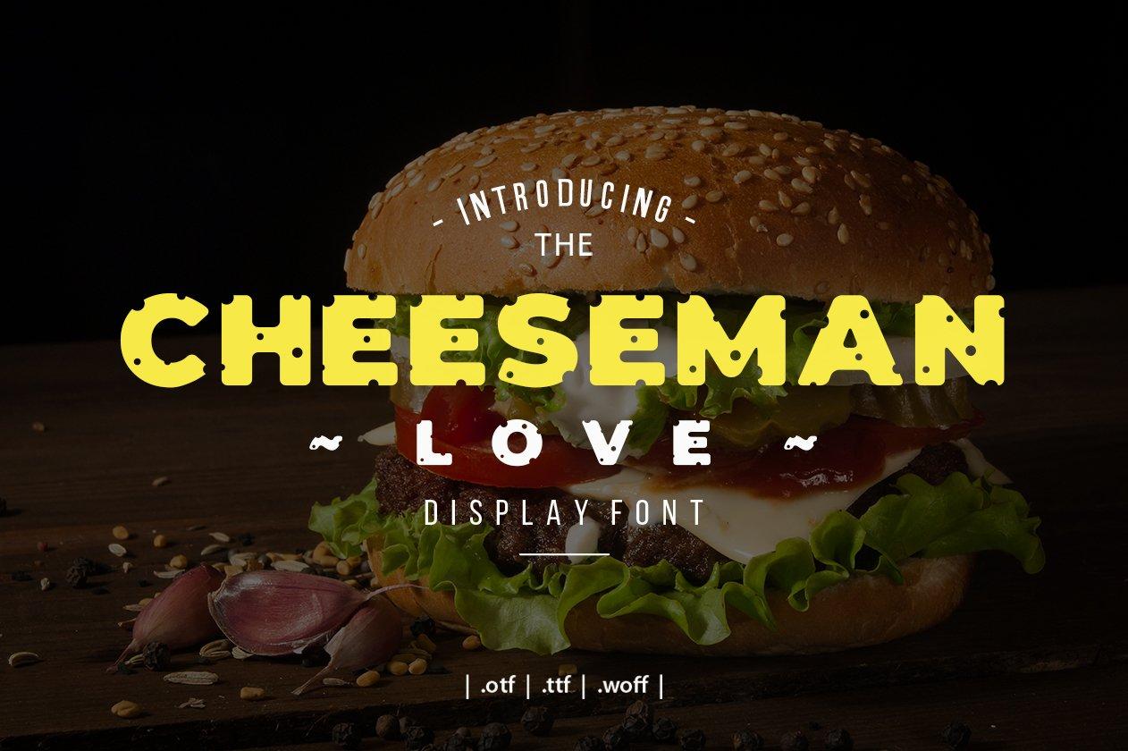 Cheesman Love Display Font example image 1