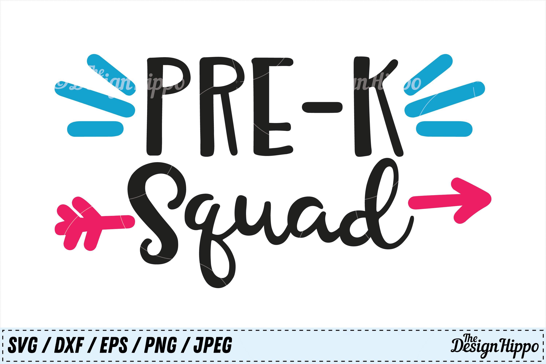 Digital Download Preschool Squad PNG Pre-K flowers Back to School Teacher Team Elementary School Sublimation Design Open House
