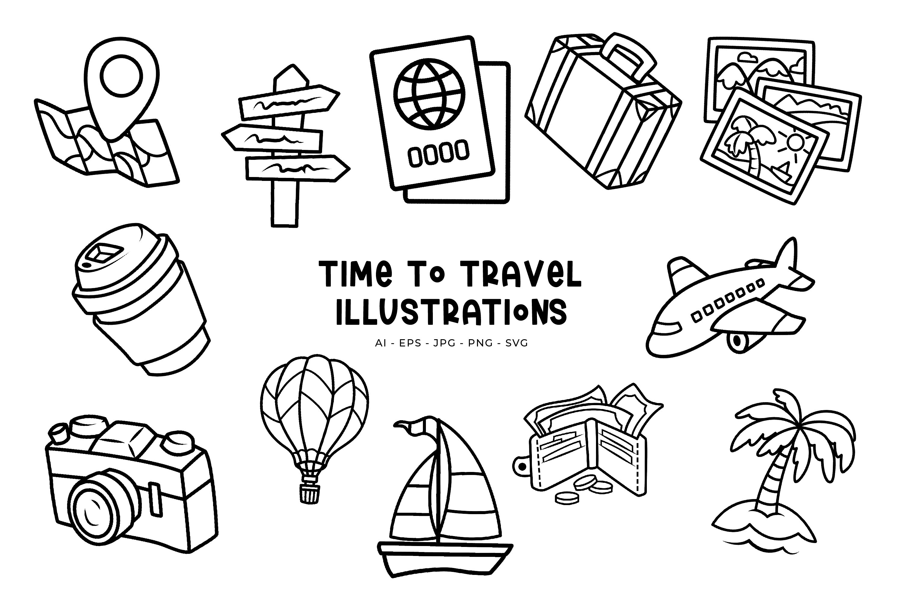 Time To Travel illustrations example image 1
