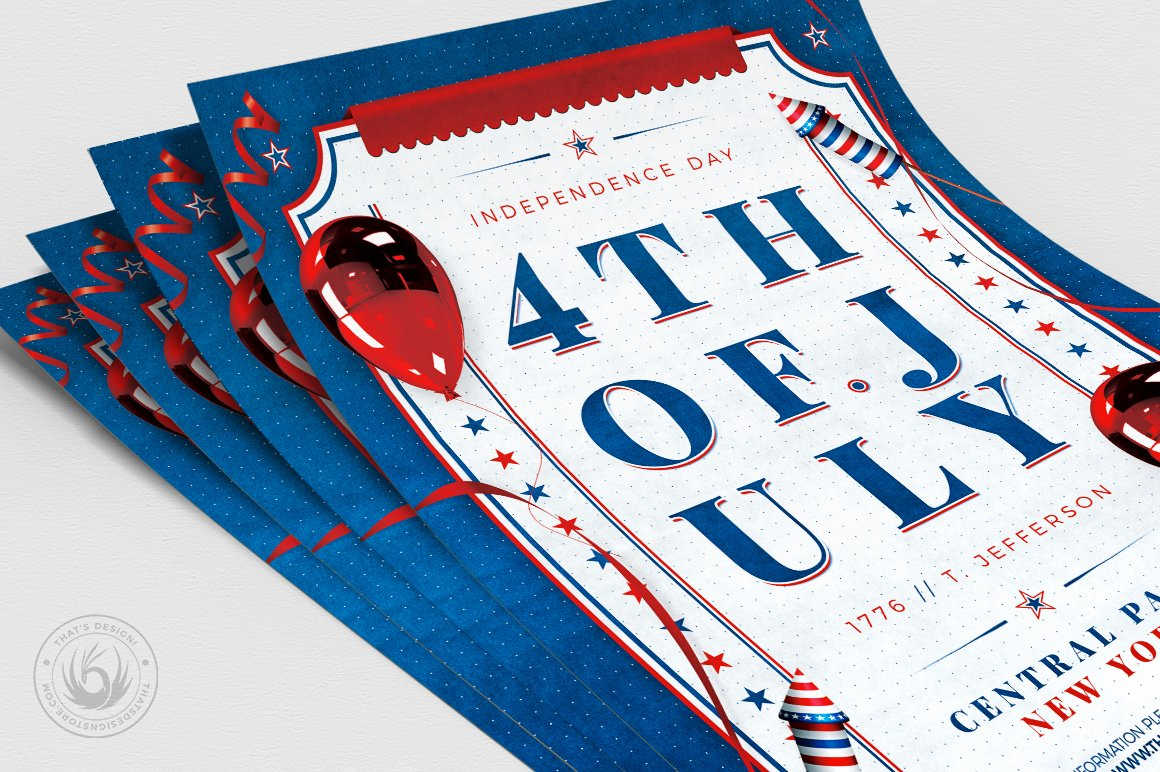 Independence Day Flyer Template V3 example image 5