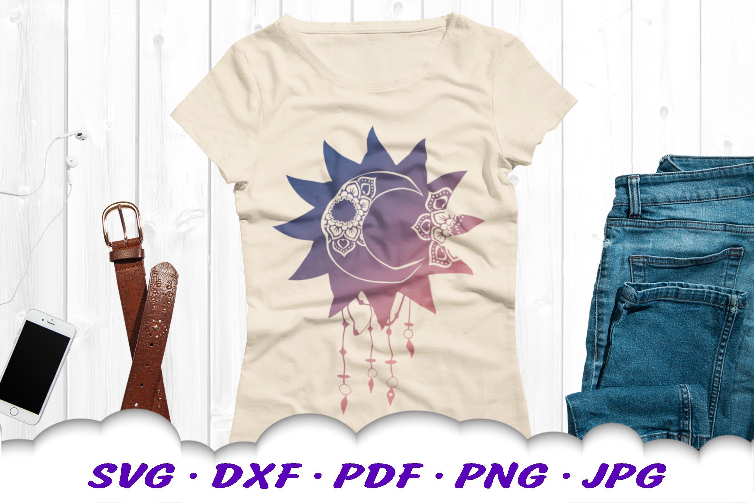 Celestial Dream Catcher Mandala SVG DXF Cut Files example image 3