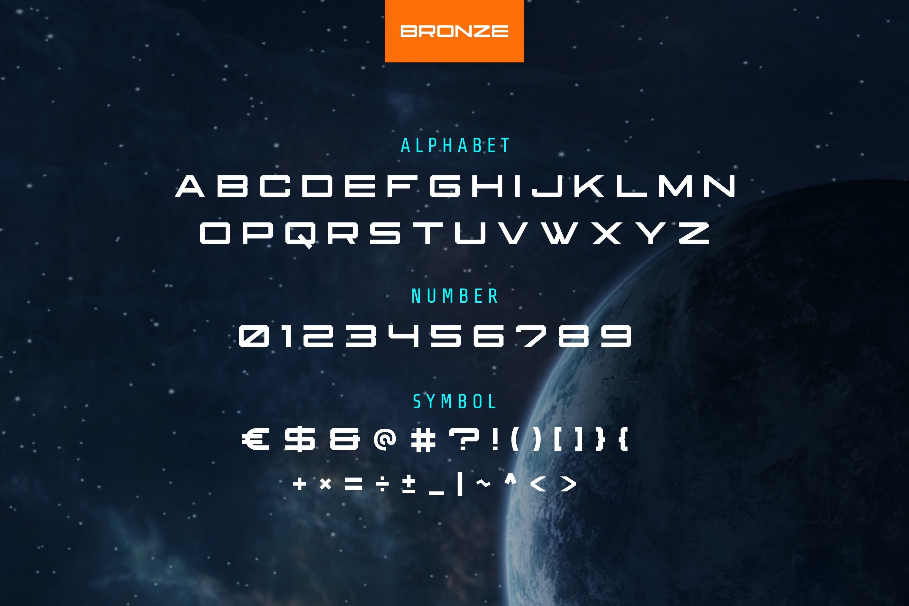 Bronze Modern and Futuristic Font example image 5