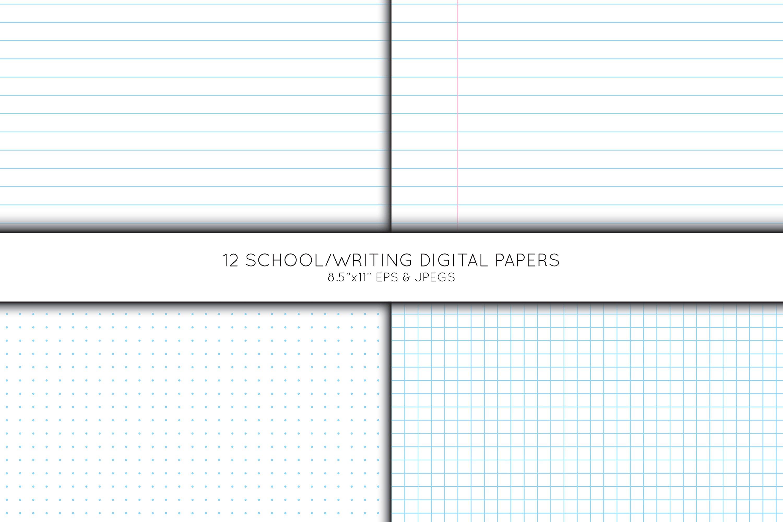 School digital paper, Pre School Paper, Writing paper example image 2
