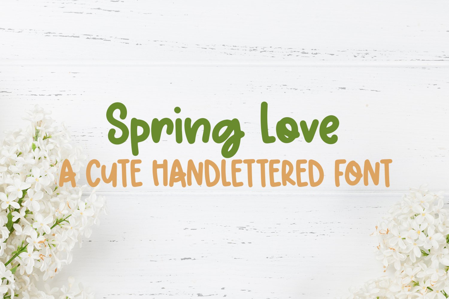 Spring Love - A Cute Hand-Lettered Font example image 1