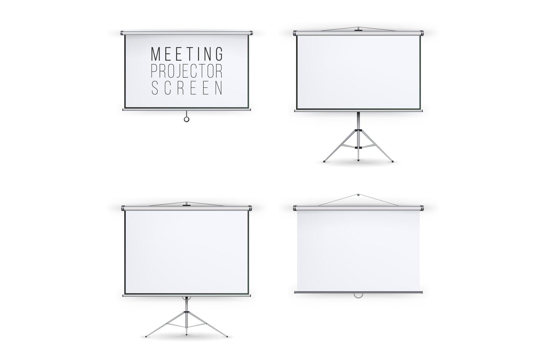 Meeting Projector Screen Vector Set example image 1