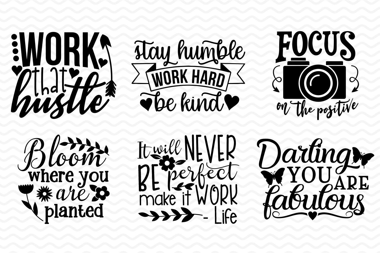 Inspirational and Motivational SVG bundle example image 2