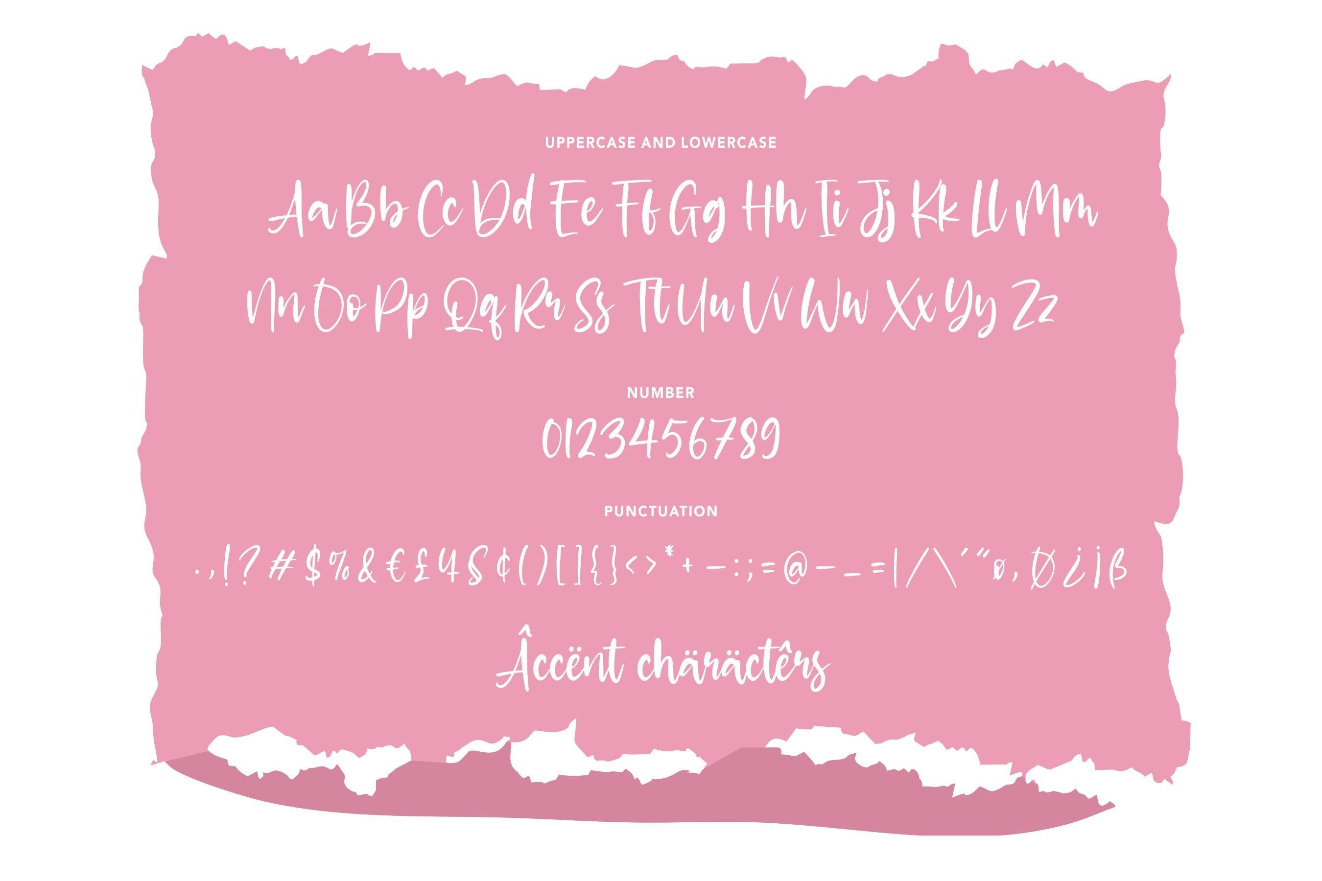 Glittery Modern Handwritten Font example image 6